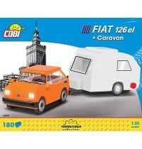 Cobi FIAT 126P + CARAVAN 185 PCS CARS /24591/ FIAT 126P + CARAVAN