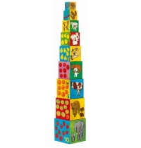 Djeco - Stapelturm: 10 my friends blocks