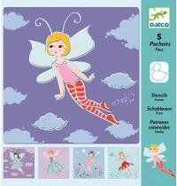 Djeco - Schablonen - Fairies