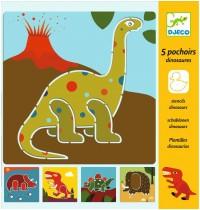 Djeco - Schablonen - Dinosaurs
