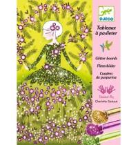 Djeco - Glitzerkarten - Glitter dresses