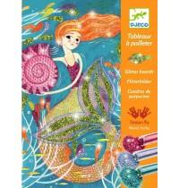 Djeco - Glitzerkarten - Mermaids