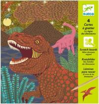 Djeco - Kratzbilder - When dinosaurs reigned