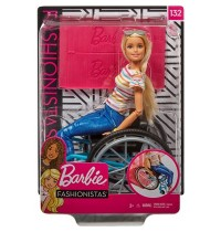 Mattel - Fashionistas - Barbie Rollstuhl, blond
