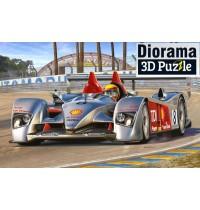 Revell - Audi R10 TDI pl 3D Puzzle, Le Mans Racetrack, 1:24