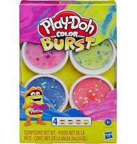 Hasbro - Play-Doh - Color Burst Pastellfarben mit 4 Dosen à 56 g