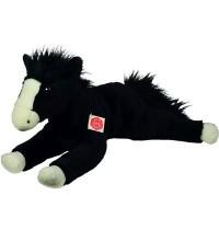 Teddy-Hermann - Bauernhof - Pferd liegend schwarz 53 cm