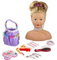Schminkkopf m. Zubehör, blond Götz Puppenmanufaktur