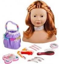 Schminkkopf mit Zubehör, rot Götz Puppenmanufaktur