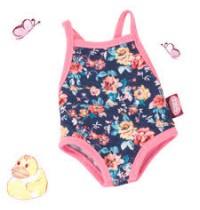 Badeanzug Gr. M/XL für Babypuppen 42-46cm und Stehpuppen 46-50cm Götz Puppenmanufaktur