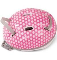 Helm pink/weiße Punkte M/XL für Stehpuppen von 42 - 50cm und Babypuppen Gr. 42 - 46cm   Götz Puppenmanufaktur
