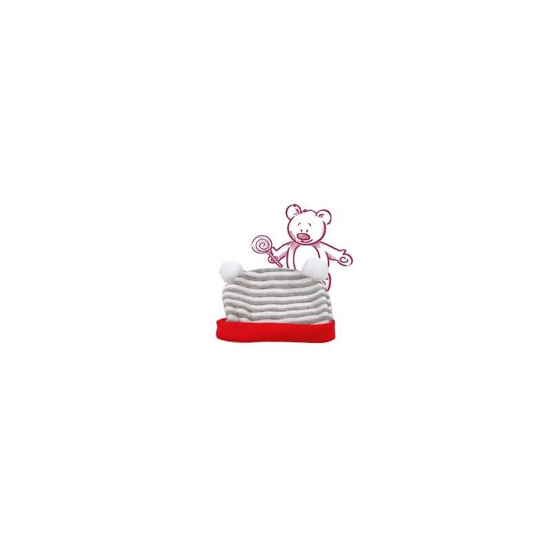 BC Mütze weiß/grau 42cm Götz Puppenmanufaktur