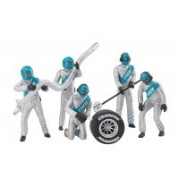 1:32 Figurensatz Mechaniker silber