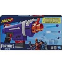 Hasbro - Nerf Fortnite SMG-E Blaster – Motorisierter Dart-Blaster – 6-Dart Clip-Magazin, 6 Nerf Elit