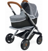 Smoby - Puppen - Quinny 3in1 Multifunktions-Puppenwagen Grau