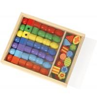 Lena - Holzspielzeug - Super Beads Holzfädelperlen