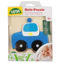 Lena - Holzspielzeug - Holzpuzzle Polizeiauto