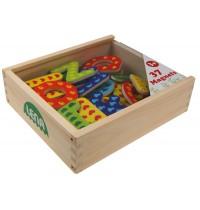 Lena - Holzspielzeug - Holz Magnet Buchstaben