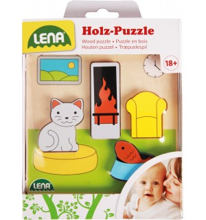 Lena - Holzspielzeug - Holzpuzzle Wohnzimmer