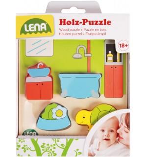 Lena - Holzspielzeug - Holzpuzzle Bad