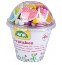 Lena - Holzperlen Cupcakes, pink