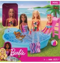 Mattel GHL91 Barbie Pool und Puppe (blond)