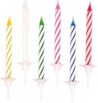 24 Geburtstagskerzen mit 12 Haltern