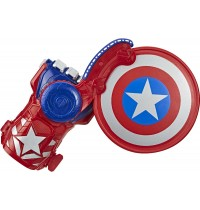 Hasbro - Nerf Power Moves Marvel Avengers Captain America Schild Attacke