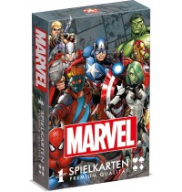 Winning Moves - Number 1 Spielkarten - Marvel Universe im Display, 12 Stck