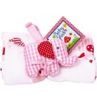 Die Spiegelburg - BabyGlück - Geschenkset Mulltuch und Spieluhr, rosa