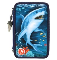 Depesche - Dino World - 3-fach Federtasche LED Underwater