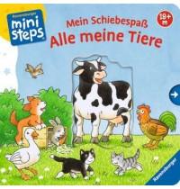 Schiebespaß Alle meine Tiere Ravensburger Kinderbuch ministeps Bücher