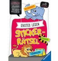 Erstes Lesen Sticker-Rätsel ( Ravensburger Kinderbuch Lernen Lachen Selbermachen