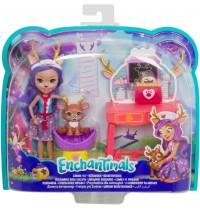 Mattel - Enchantimals - Themenpack Tierarztbesuch Spielset mit Puppe