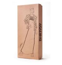 Mattel - Barbie BMR1959, voll bewegliche Barbie Modepuppe, brünett