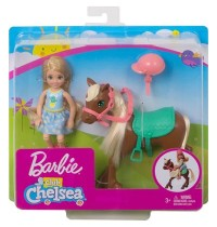 Mattel - Barbie Chelsea - Puppe & Pony blond
