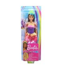 Mattel - Barbie Dreamtopia - Prinzessin Puppe brünett und türkisfarbenes Haar