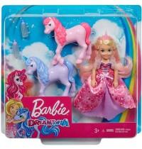Mattel - Barbie Dreamtopia - Chelsea Puppe und Einhörner