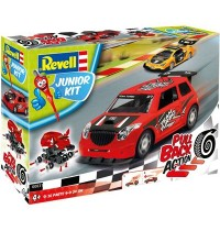 Revell - Junior Kit - Pull Back Action - Rallye Car, red
