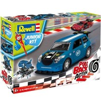 Revell - Junior Kit - Pull Back Action - Rallye Car, blue