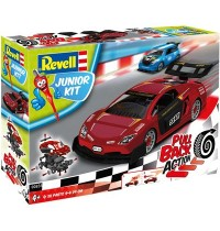 Revell - Junior Kit - Pull Back Action - Racing Car, red