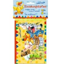 Die Spiegelburg - Die Lieben Sieben - Einladungskarten 8 Stück