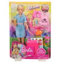 Mattel - Barbie - Reise Puppe blond mit Zubehör