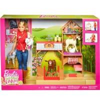 Mattel - Barbie - Spaß auf dem Bauernhof Puppe und Spielset