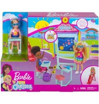Mattel - Barbie - Chelsea Schule mit Puppe Spielset