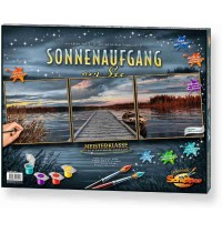 Schipper Arts & Crafts - Meisterklasse Triptychon - Sonnenaufgang am See