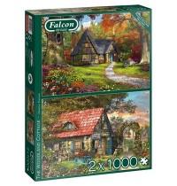 Jumbo Spiele - Falcon - The Woodland Cottage - 2x 1000 Teile