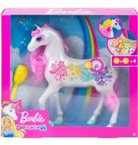 Mattel - Barbie Dreamtopia Regenbogen-Königreich Magisches Haarspiel Einhorn