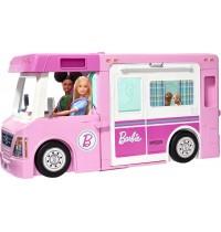 Mattel - Barbie - 3-in-1 Super Abenteuer-Camper mit Zubehör