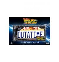 """BTTF Nummernschild Replik 1/1 Back to the Future """"""""Outatime"""""""" - Zurück in die Zukunft"""